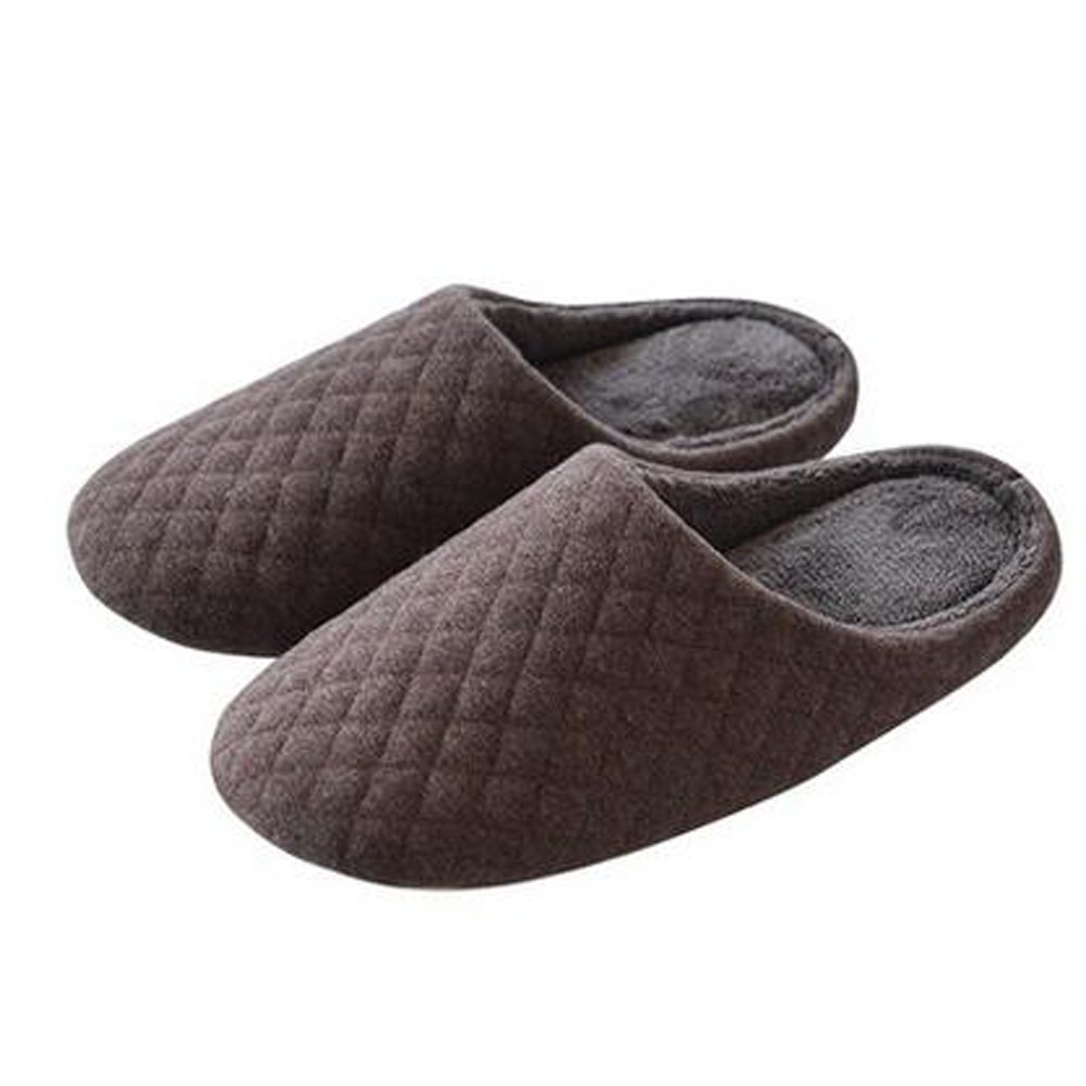 Japanese Men's Winter Warm & Cozy Indoor Shoes House Slipper, Brown Blancho Bedding