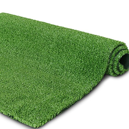 Petgrow Synthetic Artificial Grass Turf for Garden Backyard Patio Balcony,Drainage Holes & Rubber Backing,Indoor Outdoor Faux Grass Astro Rug,DIY Decorations for Fence Backdrop (2 Pack - 3 FTX 5 FT)