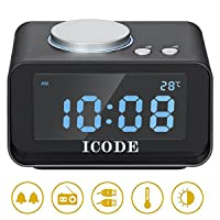 Deals on ICODE Digital Alarm Clock with FM Radio