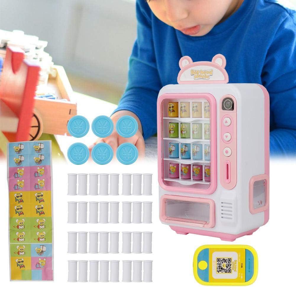 Nannday Máquina expendedora de Juguetes, máquina expendedora de estimulación Juego de Roles para niños Juego de Compras Educación Juguetes de Aprendizaje, Regalos para niños niñas(1-Rosado)