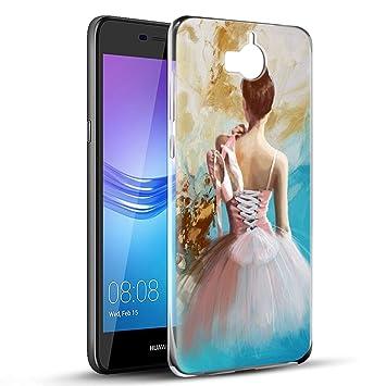 Yoedge Funda Huawei Y6 2017, Ultra Slim Cárcasa Silicona ...