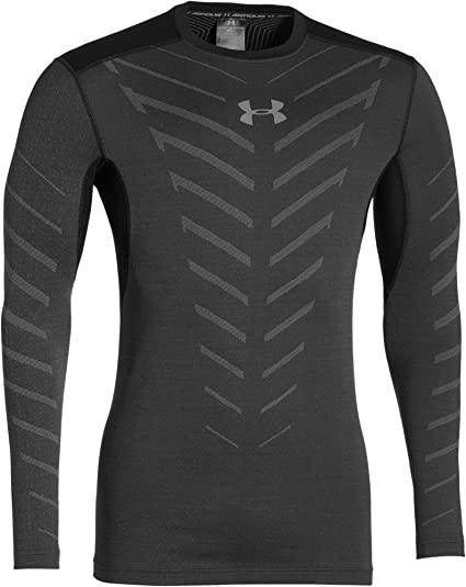 8ada515d69 Under Armour ColdGear Infrared Armour Compression Crew Running Top - Small  - Black
