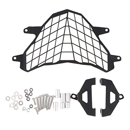 Motorcycle Headlight Mesh Grill Cover w// Mount Bracket for BMW G310GS 17-18