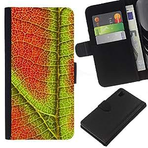 Ihec-Tech / Flip PU Cuero Cover Case para Sony Xperia Z1 L39H - Plant Nature Forrest Flower 96