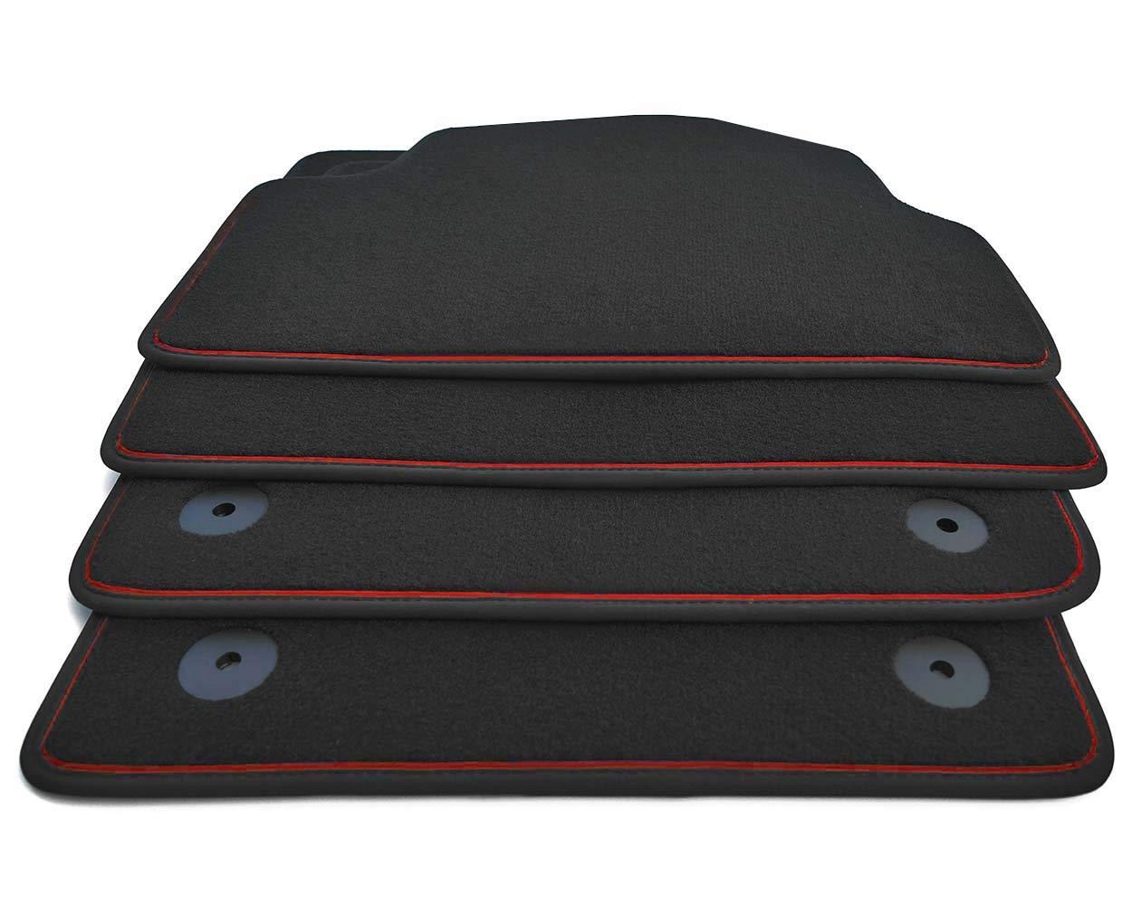 NEU Fußmatte Seat Ibiza 6F FR Cupra Velour Original Qualität Rote Naht Automatte