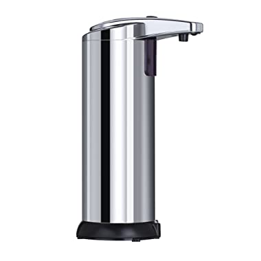 True Home Smart Automatic Soap Dispenser - Touchless electric stainless steel liquid hand set dispensers - Used for Bathroom, Commercial, Kitchen, office - Small spray for kids - Easy to refill