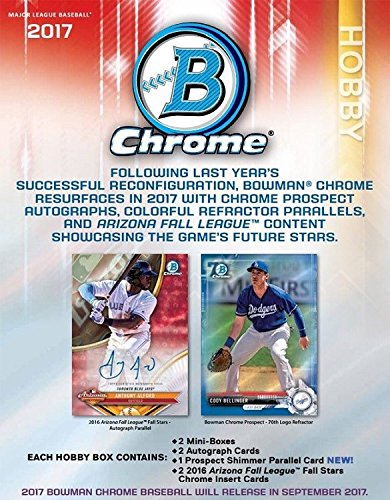 2017 Bowman Chrome Baseball Hobby Box - 12 packs of 5 cards from Bowman Chrome
