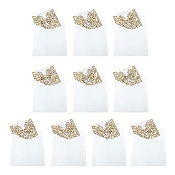 Homyl 10 Stk Hochzeitskarten Einladungenskarten Mit Umschlage