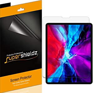 Supershieldz (3 Pack) for Apple New iPad Pro 12.9 inch (2020 and 2018 Model, 4th/3rd Generation) Screen Protector, High Definition Clear Shield (PET)