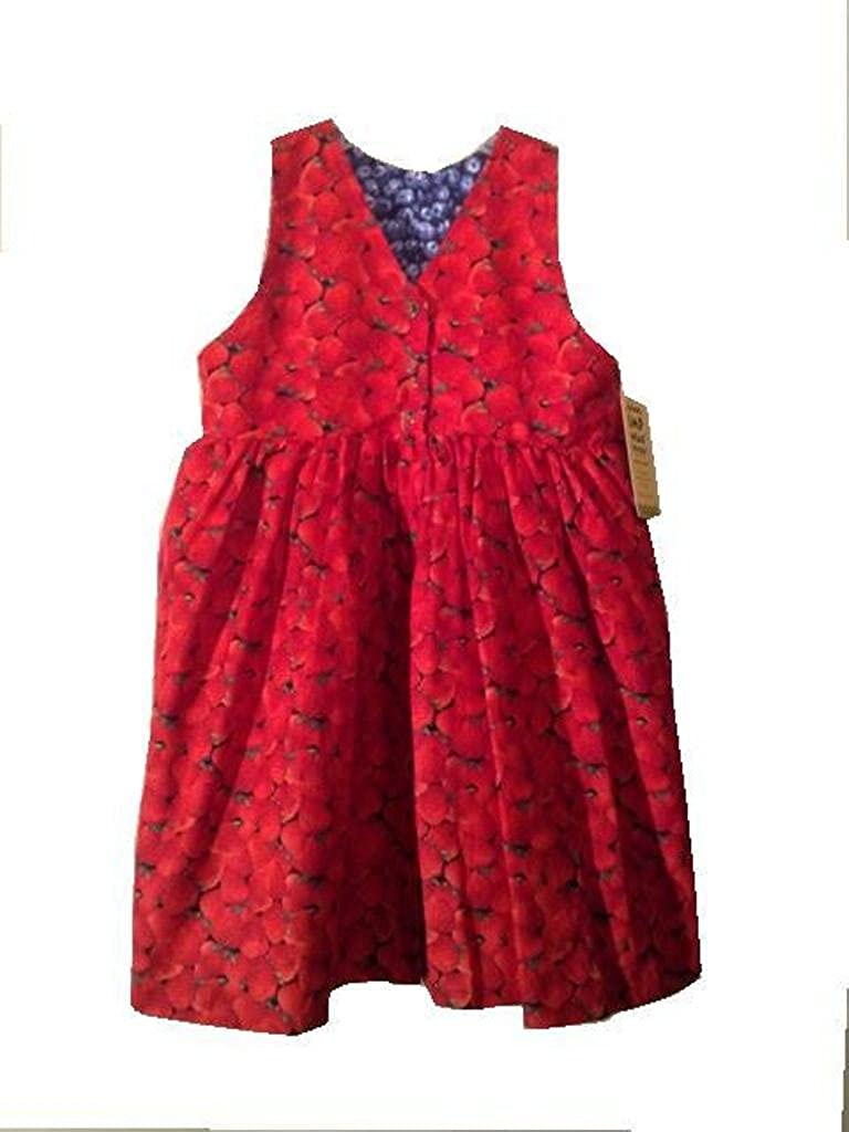 Girls Reversible Jumper Dress-Medium Strawberry//Blueberry