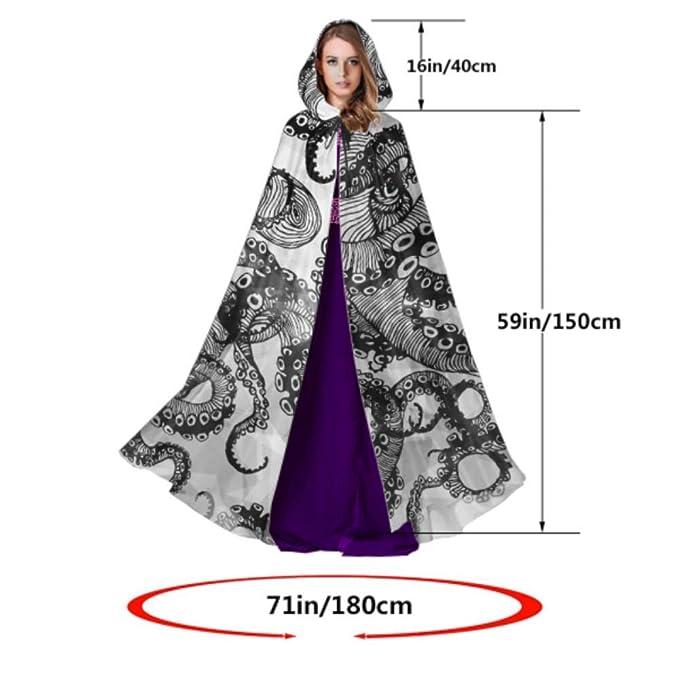 LONGYUU Disfraz de Pulpo gótico Moderno Dibujado a Mano Capa con ...
