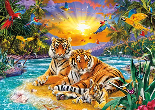 Buffalo Games - Amazing Nature Collection - Sunset Tigers - 500 Piece Jigsaw Puzzle
