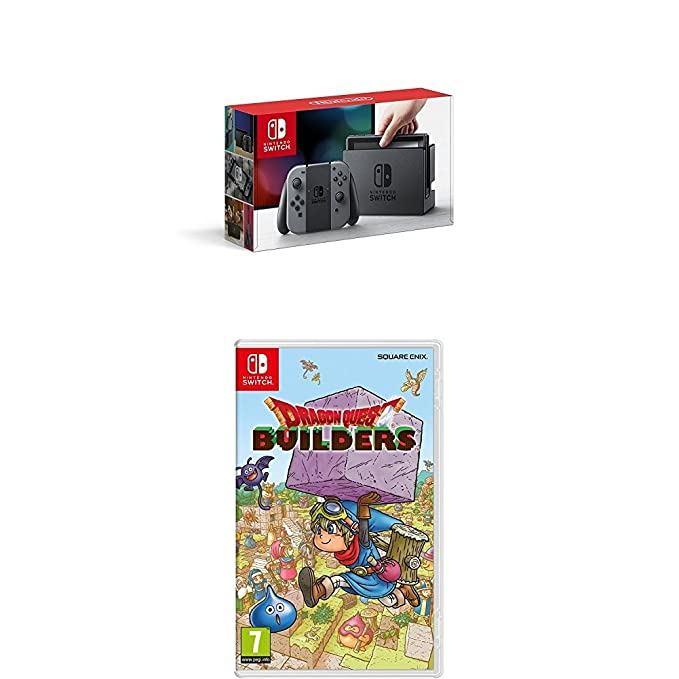 Nintendo Switch - Consola Color Gris + Dragon Quest Builders ...