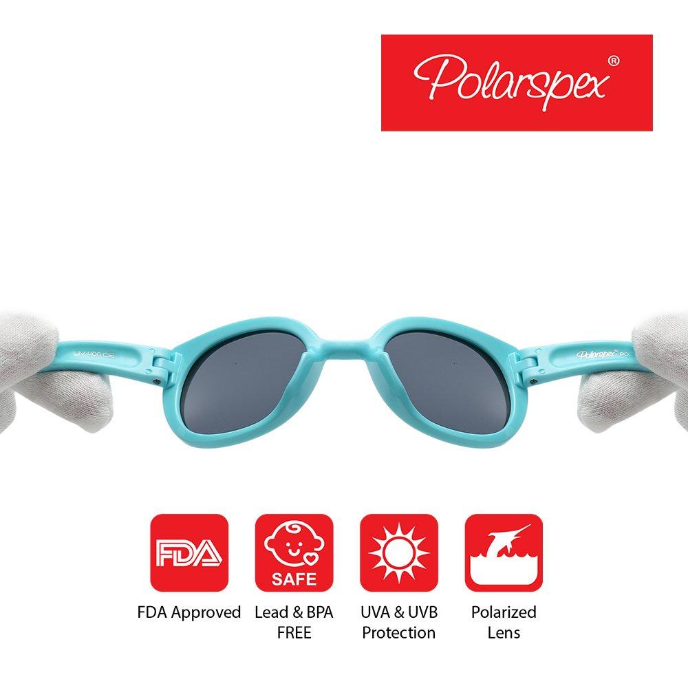 7dff8401ff5f1 Polarspex Girls Elastic Cateye Kids Toddler Girls Polarized BPA Free ...