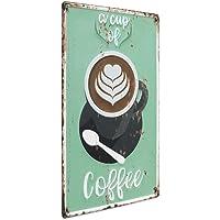 Photolini Cartel de Chapa Coffee Cup 30x40 cm