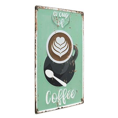 Photolini Cartel de Chapa Coffee Cup 30x40 cm Cartel de ...