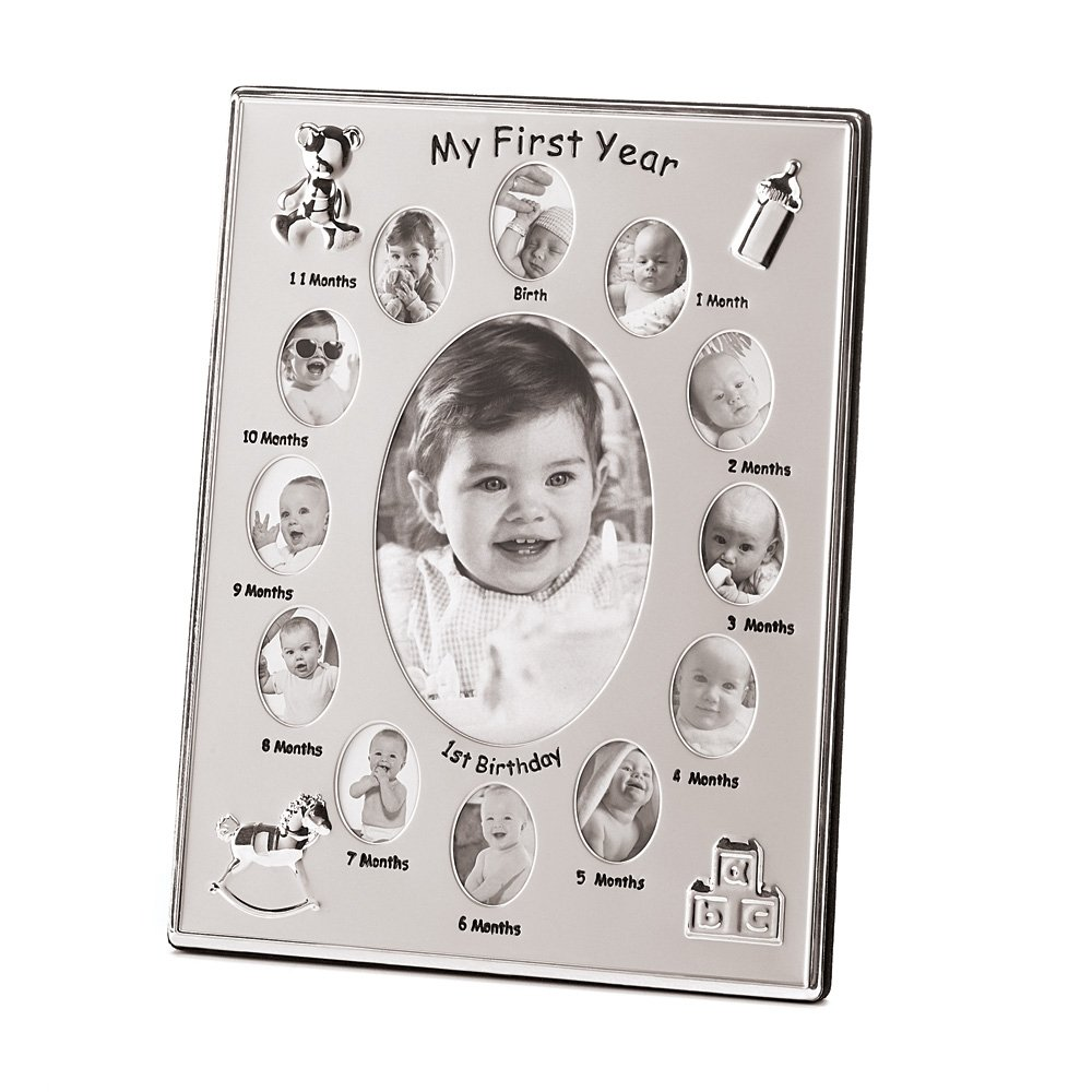 Gifts & Decor My First Year Baby Month by Month Photo Picture Frame Furniture Creations 39783