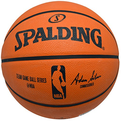 Basketball Silver Signature (Spalding NBA Rubber Basketball Game Ball Series Outdoor Basketball)