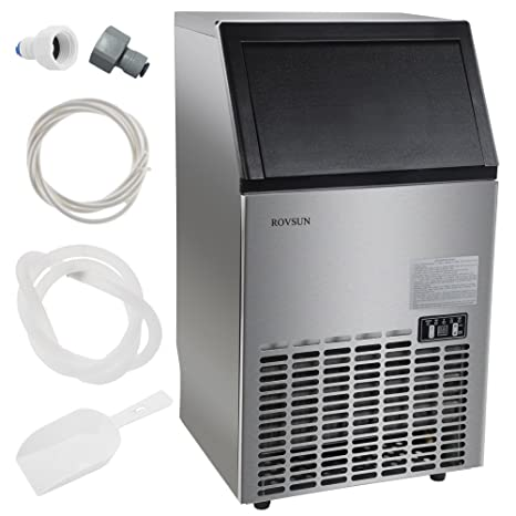 rovsun commercial ice maker automatic built in stainless steel under counterfreestandingportable - Commercial Ice Machine