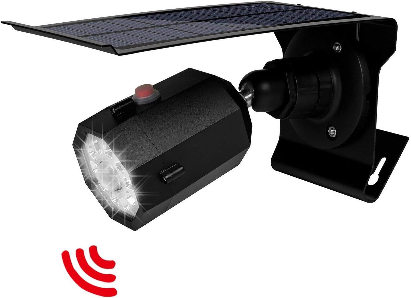 Solar Motion Sensor Light Outdoor 500Lumens 10 LED Spotlight 5-Watt Solar Lights Outdoor IP66 Waterproof Wireless Solar Flood Light for Pathway Porch Garden Patio Driveway Black