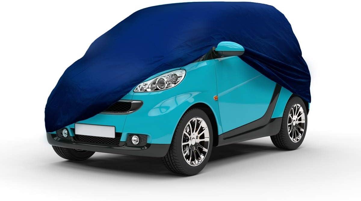ECD Germany Telo Copriauto Parziale per Auto 214 x 146 x 55 cm Traspirante Impereambile con Protezione UV per Pioggia Vento Telo Copriauto Parziale per Smart Antigraffi per Inverno o Estate Mett/á