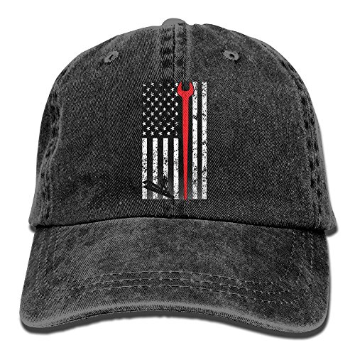 Baseball Cap AMERICAN IRONWORKER - Adjustable Trucker Hat Cotton Denim, DanLive AMERICAN - Sweater Operator