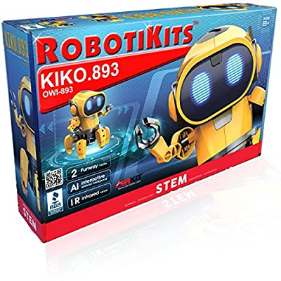 OWI Kiko.893 Interactive a/I Capable Robot with Infrared Sensor Two Play Modes – Follow Me Or Explore Develops Own Emotions and Gestures Sound and Lighting Effects