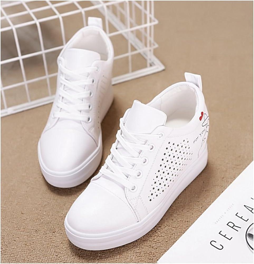 ZONGMIC Chaussure Femme Baskets Tennis Talon Compens/é 7 CM Sneaker Lacet