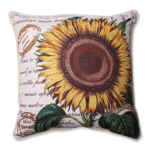 Pillow Perfect Sunflower Corded Throw Pillow, 16.5