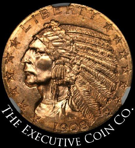 1908 P Indian Gold Five Dollar NGC MS64