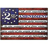 "2nd Amendment Brand Vintage American Flag Tin Sign 11"" x 16"" USA Second 2A Man Cave Decor"