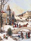 Perfect Timing - Lang Folk Art Christmas Assorted Two Set Christmas Card, 5.38 x 6.88 Inches, 18 cards with 19 envelopes (1008091)