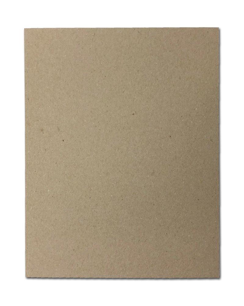 """30pt 8"""" x 10"""" Brown Kraft Cardboard Chipboard (50 Pieces)"""