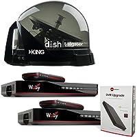Dish DTP4900 Bundle Tailgater PRO Premium Satellite TV Antenna w/ 2 Wally Receivers & 1 DVR Upgrade