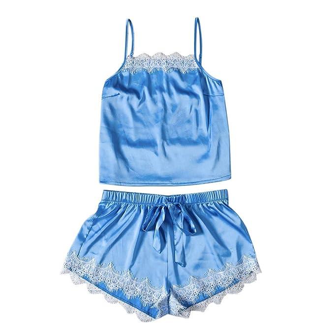 a916ac4707 2019 Pajamas for Girls Fashion Sexy Lace Sleepwear Lingerie Temptation  Babydoll Underwear Nightdress Blue S