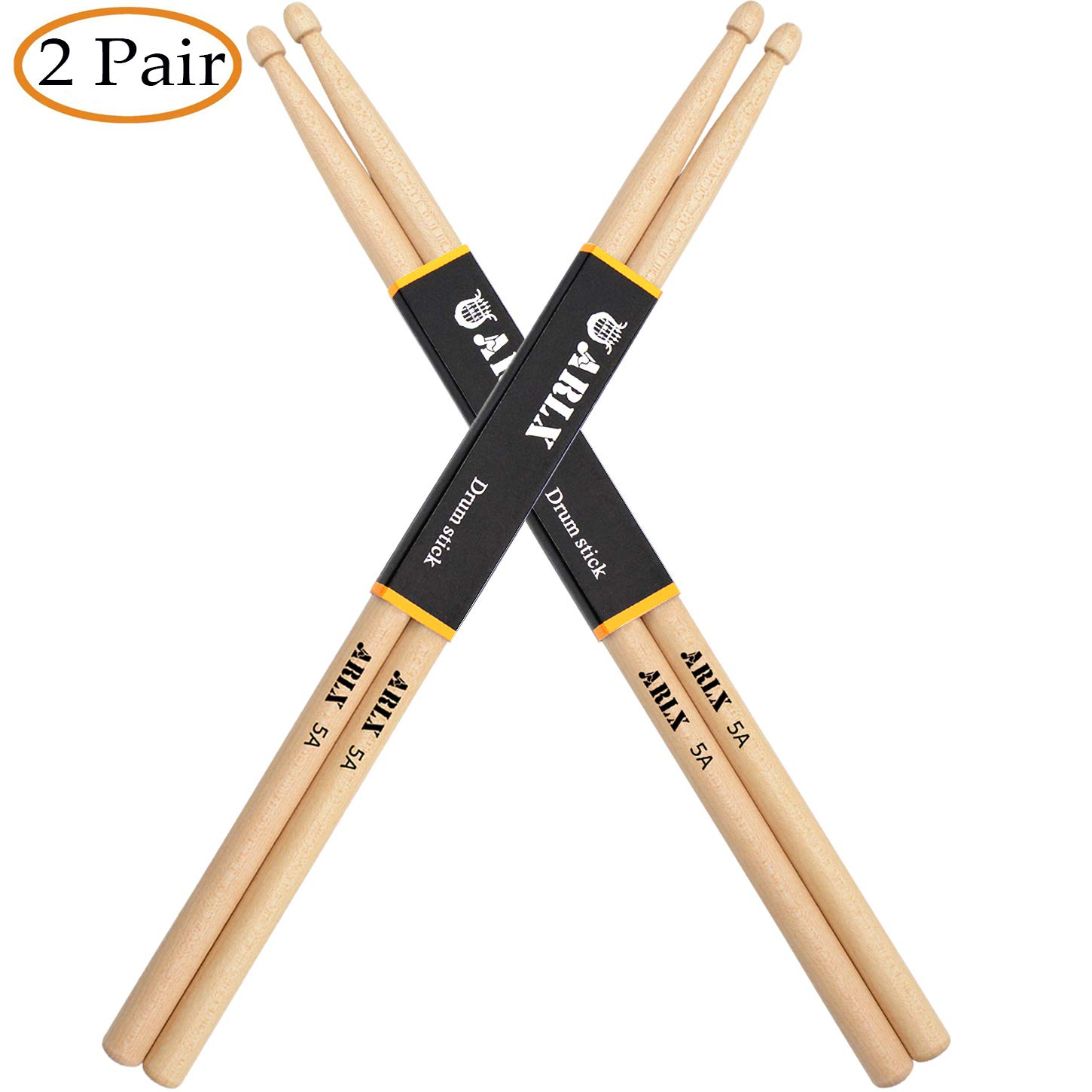 WOGOD 5A Drum Sticks Maple Drumsticks (Two pair)
