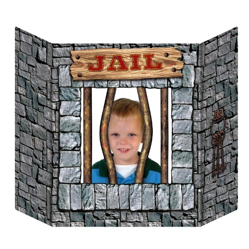 [Jail Photo Prop Party Accessory (1 count) (1/Pkg)] (Jail Costume For Kids)