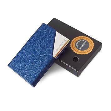 Sayeec Visitenkartenhalter Luxus Pu Leder Edelstahl Halter Für Mehrere Visitenkarten Etui Für Kreditkarte Ausweis Schutzhülle Halter Für Herren
