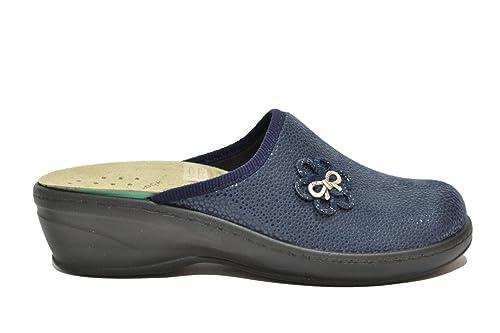 Fly Flot Ciabatte scarpe donna blu plantare estraibile 359593Y 40   Amazon.it  Scarpe e borse 399f9606d86
