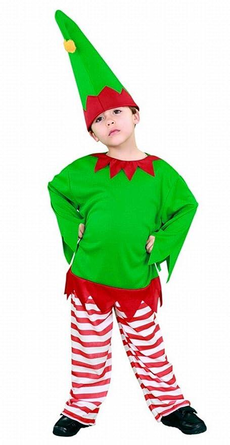 Disfraz de Elfo Rayas infantil: Amazon.es: Juguetes y juegos