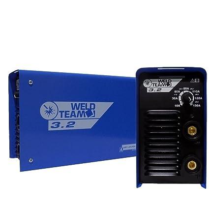 Soldadura Weld Team 3.2 TIG 150 A Inverter electrodos + Maleta Cables y accesorios