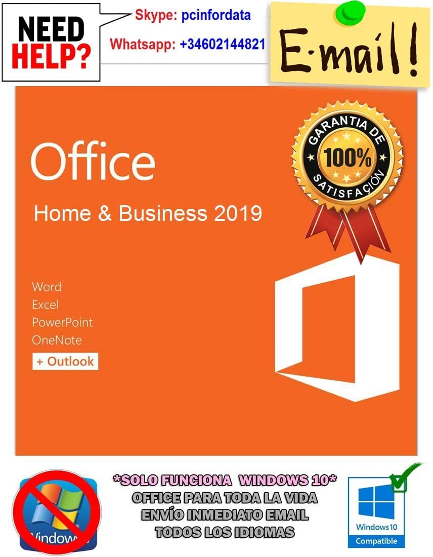 Microsoft Office Home and Business 2019 French EuroZone Medialess for HP PC (FR)