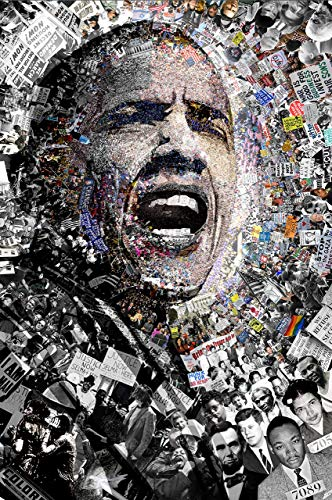"""""""I Am Not A Perfect Man"""" 27x39 Inch Obama poster. Signed offset lithograph by NYC street artist O"""