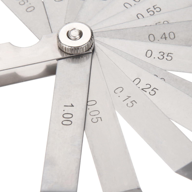 14 Blades Feeler Gauge Metric Imperial Measure Hand Tool Carbon Steel Gap Filler Thickness Gage Measuring Tools