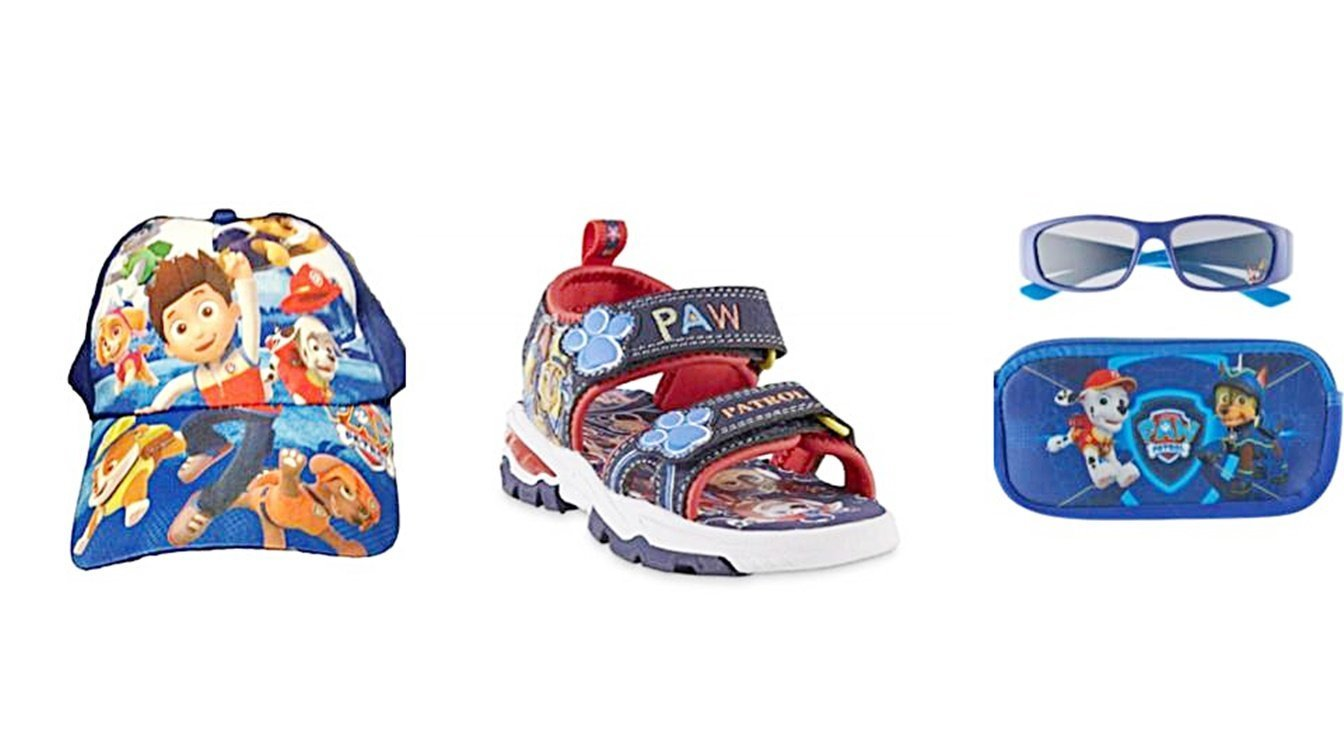 Paw Patrol Sport Sandal Baseball Cap and Sunglasses with Zippered Case Bundle (7 US M Toddler) by Custom Bundled Products