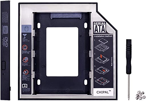2 optibay SATA 3.0 HDD Caddy 12,7 mm de Aluminio Caja de DVD ...
