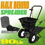 Generic YC-AUS2-150922-32 <8&1579*1> wn Yardertilize 80 Fertilize 80LB Manual Broadcast Push Push Seed Salt Spreader Hopper Lawn Yard Broadcast P
