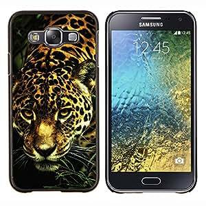 Caucho caso de Shell duro de la cubierta de accesorios de protección BY RAYDREAMMM - Samsung Galaxy E5 E500 - guepardo leopardo patrón de gato grande de pieles de animales