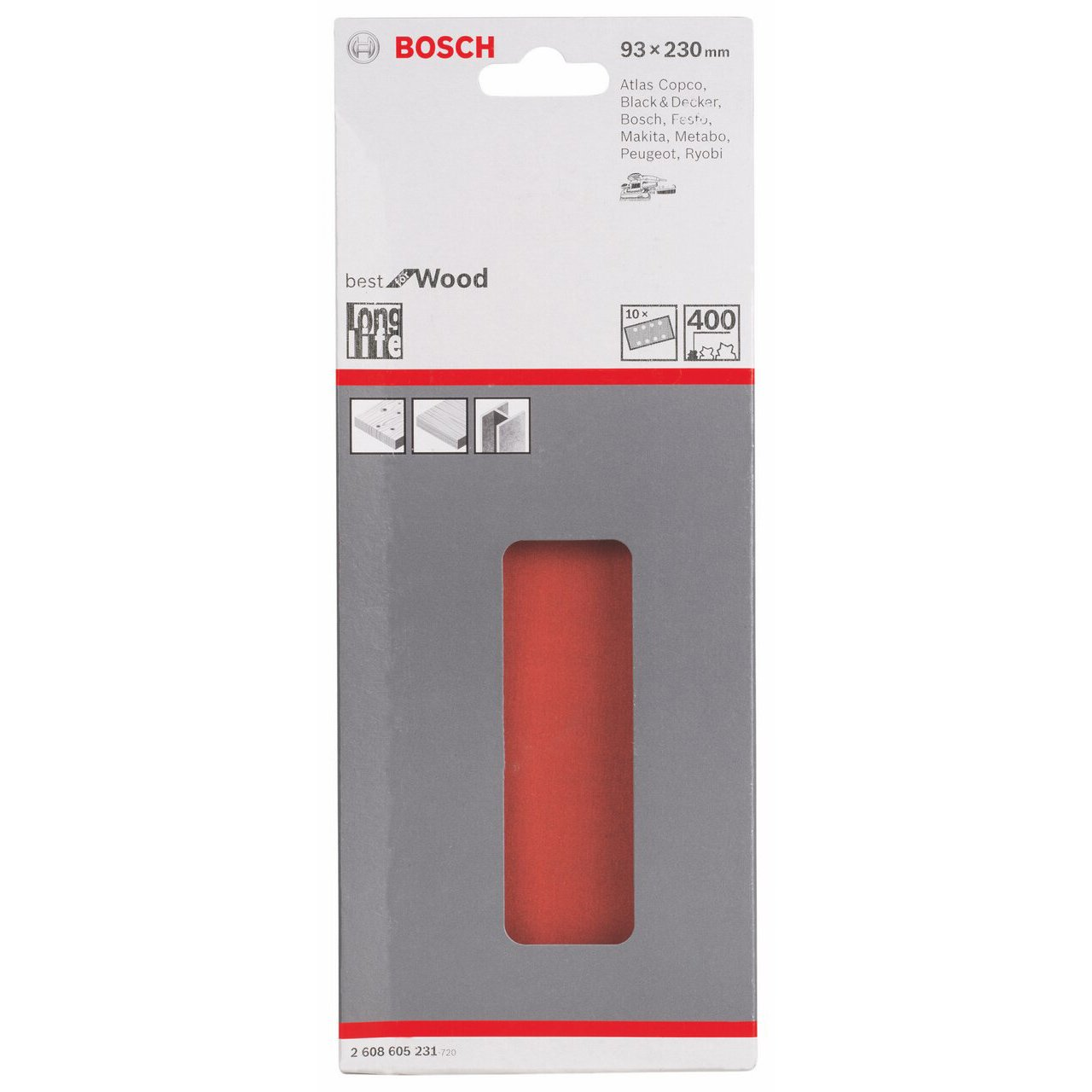 10 St/ück, K/örnung 180, C470 Bosch Professional Schleifblatt f/ür Schwingschleifer Holz und Farbe Best for Wood and Paint