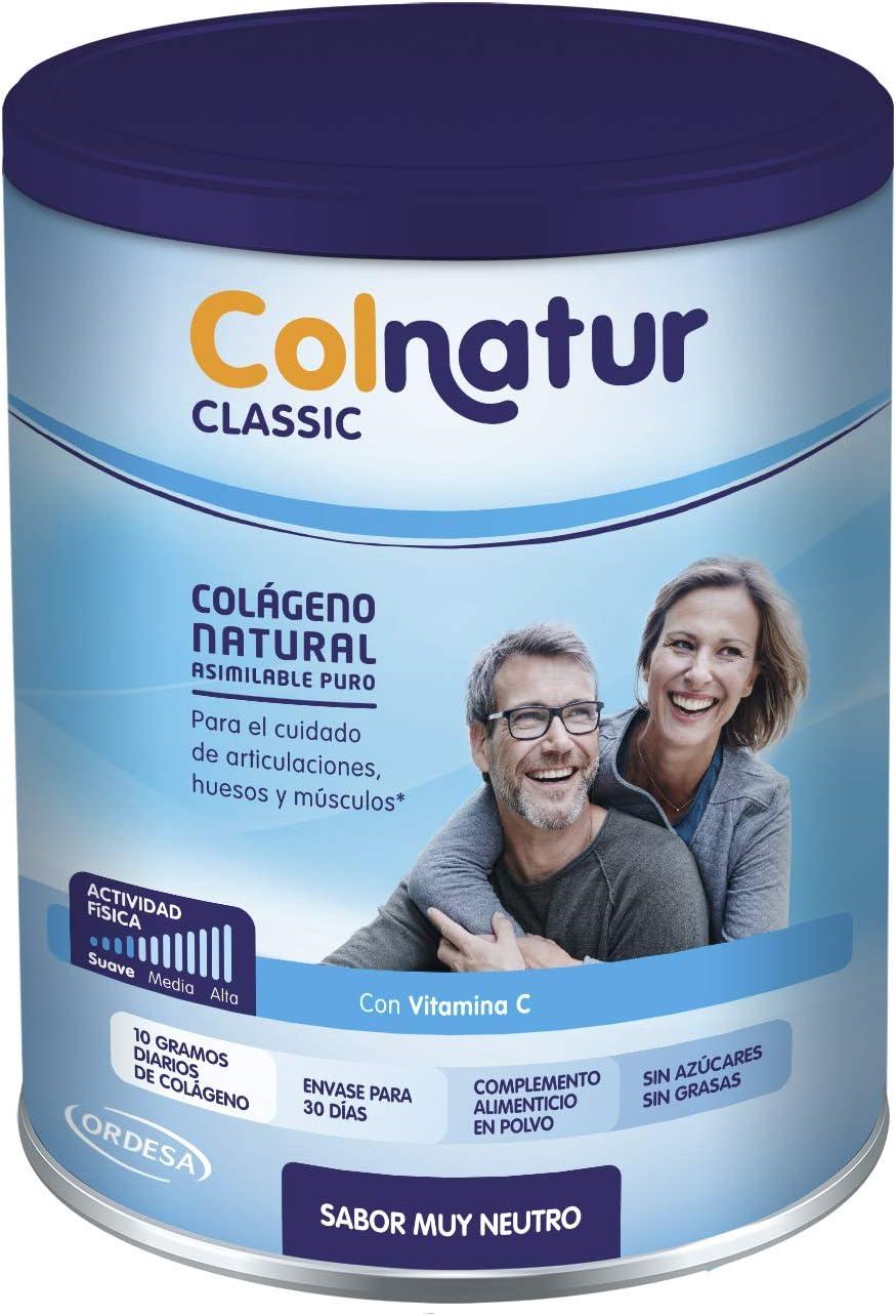 Colnatur Classic – Colágeno Natural para Músculos y Articulaciones, Sabor Neutro, 300 gr